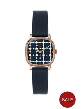orla-kiely-orla-kiely-patterned-dial-navy-strap-ladies-watch