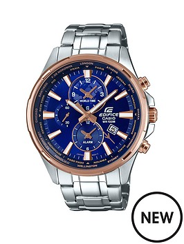 casio-casio-edifcace-blue-dial-rose-tone-accents-stainless-steel-bracelet-watch
