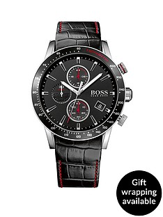 hugo-boss-black-hugo-boss-boss-black-rafale-black-dial-chronograph-red-accents-black-leather-strap-mens-watch
