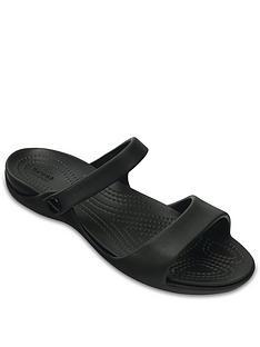 crocs-cleo-v-ankle-strap-sandals-blacknbsp