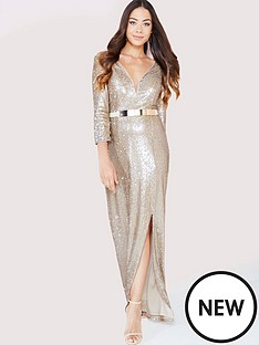 little-mistress-sequin-maxi-dress-with-belt-gold