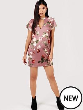 girls-on-film-tulip-print-shift-dress-with-keyhole-mink