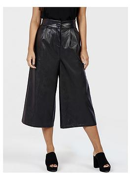 girls-on-film-faux-leather-culottes-black