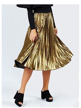 girls-on-film-metallic-pleat-midi-skirt