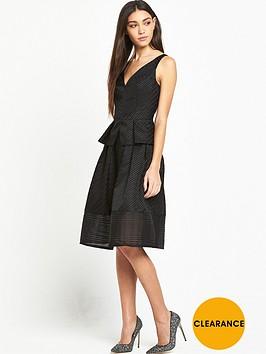 lost-ink-gabriella-textured-stripe-dress-black