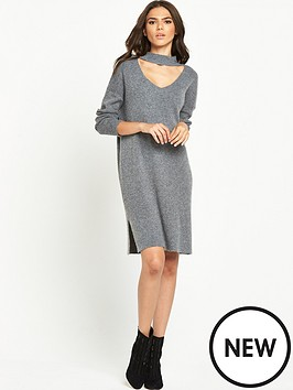 lost-ink-v-cut-out-relaxed-dress
