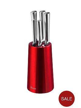 swan-townhouse-5-piece-knife-block-set-in-red