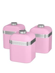 swan-retro-set-of-3-storage-canisters-ndash-pink