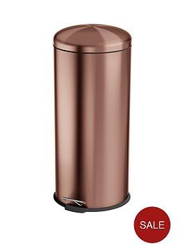 swan-townhouse-30-litre-round-pedal-bin-copper