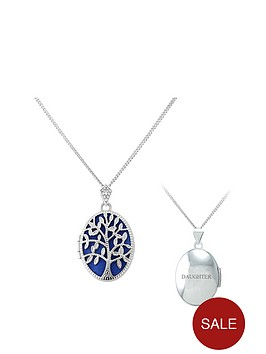 keepsafe-personalised-sterling-silver-blue-inset-tree-of-life-oval-locket