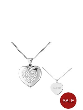 the-love-silver-collection-personalised-sterling-silver-crystal-set-and-polished-heart-pendant