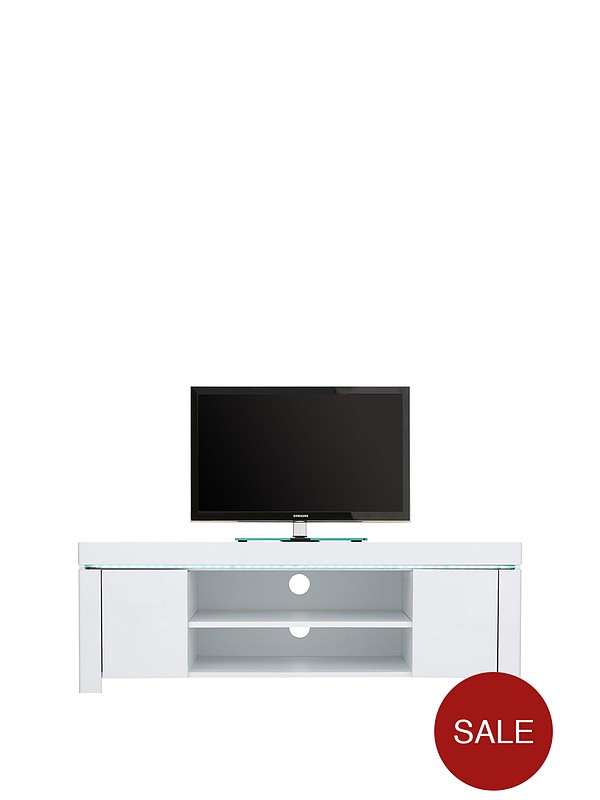 online store 7144b c6ff4 Atlantic Gloss Corner TV Unit with LED Light - fits up to 50 inch TV