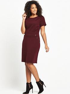 so-fabulous-curve-button-detail-ponte-dress-bordeaux