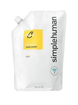 simplehuman-1-litre-dish-soap-refill-ndash-lemon