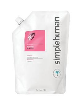 simplehuman-1-litre-hand-soap-refill-ndash-geranium