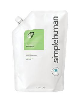 simplehuman-1-litre-hand-soap-refill-ndash-cucumber