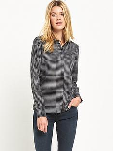 lee-slim-check-shirt-black