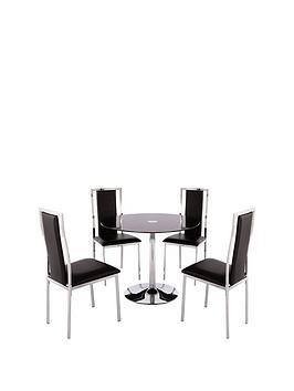 havana-dining-table-and-4-atlantic-chrome-half-back-chairs