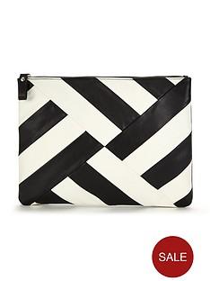 v-by-very-striped-zip-top-clutch-bag