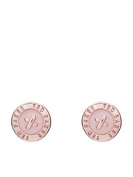 ted-baker-eisley-logo-mini-stud-earrings-rose-goldpink