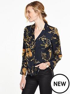 v-by-very-printed-satin-pyjama-blouse