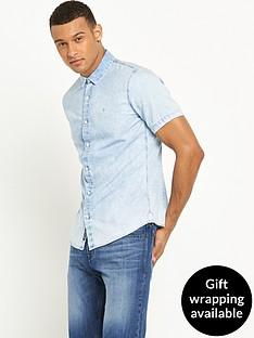 calvin-klein-jeans-wilken-bleached-denim-short-sleeved-shirt