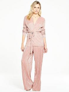 v-by-very-pleated-metallic-robe-co-ord