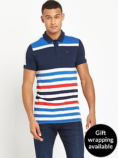 hilfiger-denim-colour-block-striped-polo