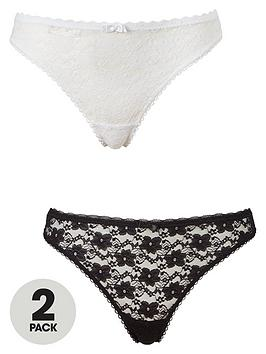 dorina-sonia-2-pack-lace-thong-blackwhite