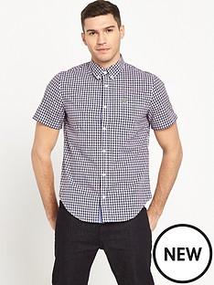 lacoste-sportswear-short-sleeve-poplin-checked-shirt