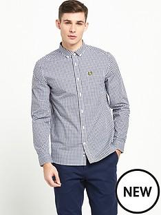 lyle-scott-long-sleeve-gingham-shirt