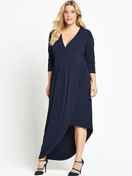 v-by-very-curve-asymmetric-wrap-front-dress-navy