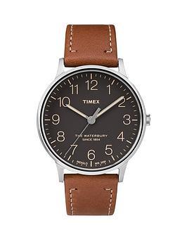 timex-timex-waterbury-black-dial-brown-strap-mens-watch
