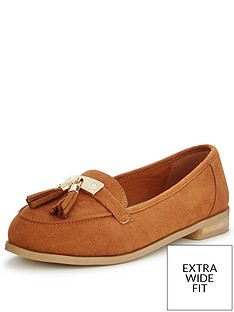 v-by-very-lynda-extra-wide-fit-tasseled-loafer-tan