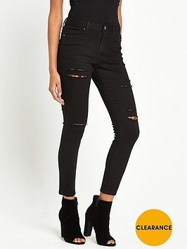 miss-selfridge-petite-lizzie-isko-multi-rip-jean-black