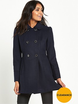 miss-selfridge-petite-navy-pea-coat