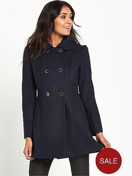 miss-selfridge-petite-navy-pea-coat