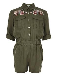 river-island-girls-khaki-embroidered-playsuit