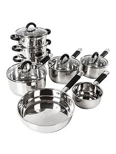 tower-essentials-8-piece-stainless-steel-pan-set