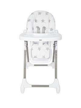 mamas-papas-snax-highchair-grey-stars