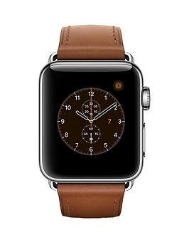 apple-apple-watch-series-2-38mm-stainless-steel-case-with-saddle-brown-classic-buckle