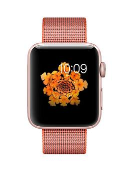 apple-apple-watch-series-2-42mm-rose-gold-aluminium-case-with-orangeanthracite-woven-nylon-band