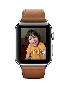 apple-apple-watch-series-2-42mm-stainless-steel-case-with-saddle-brown-classic-buckle