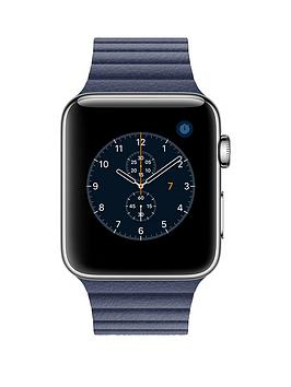 apple-apple-watch-series-2-42mm-stainless-steel-case-with-midnight-blue-leather-loop-medium