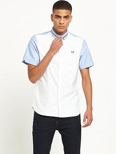 fred-perry-bomber-stripe-collar-short-sleeve-shirt