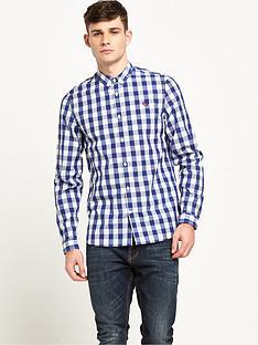 fred-perry-tartan-gingham-mix-long-sleeve-shirt