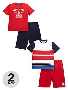 v-by-very-boys-nautical-short-pyjama-set-2-pack