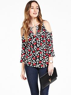 v-by-very-contrast-bind-cold-shoulder-top