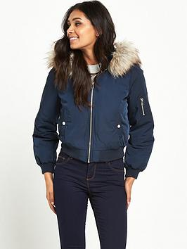miss-selfridge-miss-selfridge-petite-fur-hooded-90s-bomber