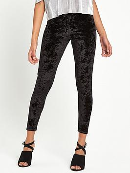 miss-selfridge-miss-selfridge-petite-crushed-velvet-legging